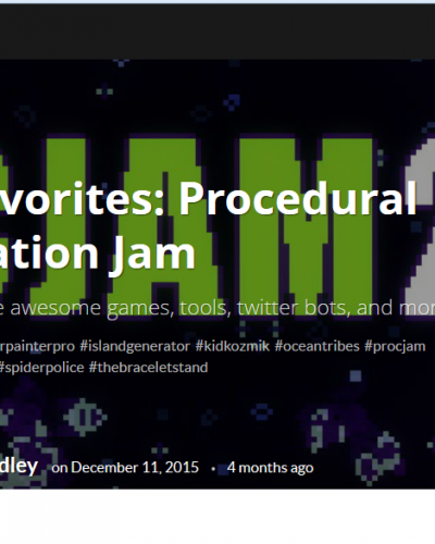 ProcJam review of games by Jupiter Hadley